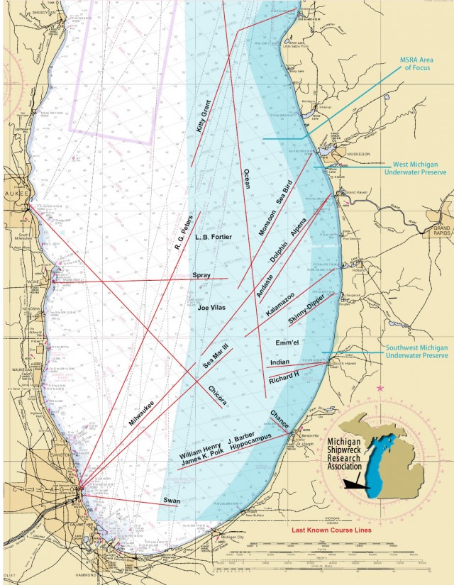 Shipwrecks lost michigan shipwreck research association msra missing map updated 2015 publicscrutiny Image collections