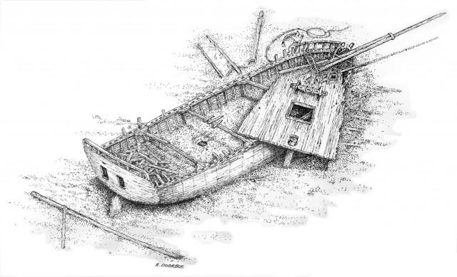 Sloop drawing