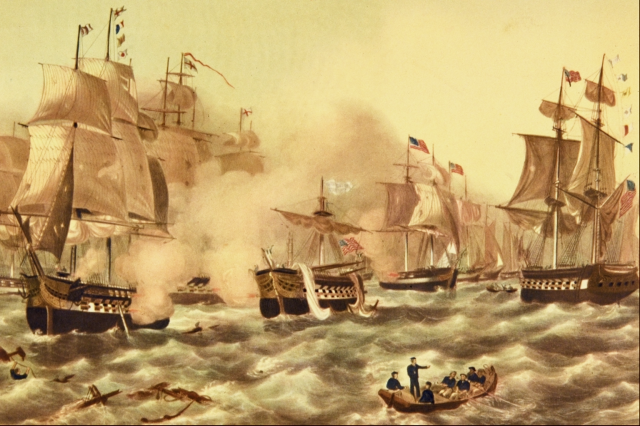 The Battle of Lake Erie By J. Perry Newell (Corel Professional Photos CD-ROM) [Public domain], via Wikimedia Commons